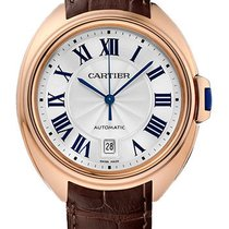 Cartier new Automatic Guilloche Dial Blue Steel Hands 40mm Rose gold