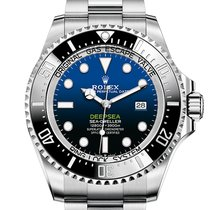 Rolex Steel Automatic Blue No numerals 44mm new Sea-Dweller Deepsea
