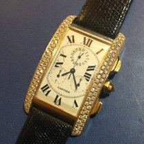 Cartier Tank Américaine Chronoreflex  Diamond oro 18 kt con...