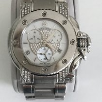Aquanautic Bara Cuda Chronograph Steel Brilliants Pearl Dial 40mm