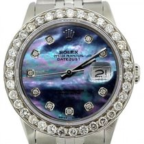 Rolex Datejust Men's 36mm Blue Mother Of Pearl Dial...