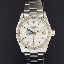 Rolex Date 34mm Stainless Steel Vintage White Kennedy Dial...