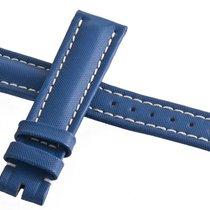 브라이틀링 (Breitling) 16mm Blue Leather Women's Watch Band Strap