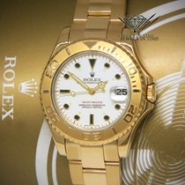 Rolex Yacht-Master 35mm 18k Yellow Gold White Dial Midsize...