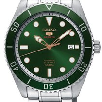 Seiko 5 Sports SRPB93K1 Green Sunray Dial Stainless Steel