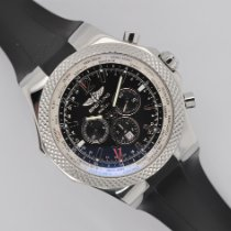 Breitling Steel Automatic Black No numerals 49mm pre-owned Bentley GMT