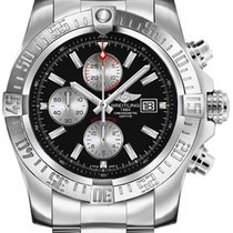 Breitling Super Avenger II Steel 48mm Black No numerals