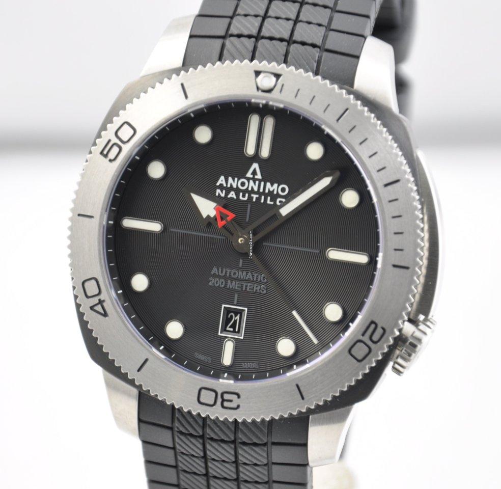 super popolare c80d2 47e98 Anonimo Nautilo Steel DLC Black Dial 45.5mm AM-1001.06.001.A11 (NEW)