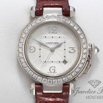 Cartier Pasha Or blanc 32mm Argent Arabes