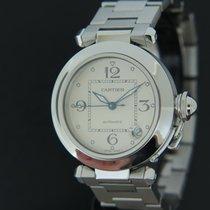 Cartier Pasha C tweedehands 35.5mm Wit Datum Staal