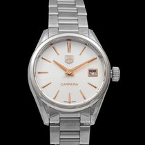 TAG Heuer Quartz Wit 32mm nieuw Carrera Lady