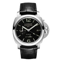Panerai Luminor 1950 8 Days GMT Steel 44mm Black Arabic numerals United States of America, Iowa, Des Moines