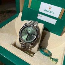 Rolex Day-Date 40 Weißgold 40mm Grün Römisch Deutschland, Köln