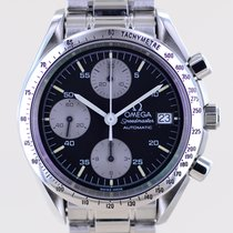 Omega Speedmaster Date Steel 39.1mm Black No numerals