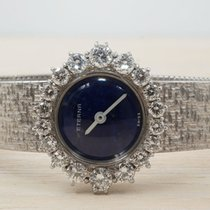 Eterna White gold Manual winding Blue 23mm pre-owned