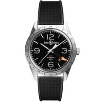 Bell & Ross Vintage BELL & ROSS BR123-BL-GMT New Steel 42mm Automatic
