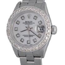 Rolex Lady-Datejust Сталь 25mm Перламутровый Без цифр