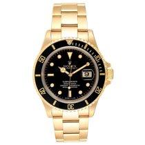 Rolex Submariner Date 16618 Foarte bună Aur galben 40mm Atomat