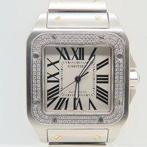 Cartier Santos 100 XL Diamond Bezel Afterset