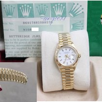 Rolex Ladies President Datejust 69178 18k Yellow Gold White Dial