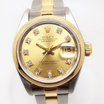 Rolex Oyster Perpetual Lady Date with diamonds on dial