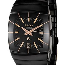 Rado Sintra Automatic Black Ceramic Mens Watch Black Dial...
