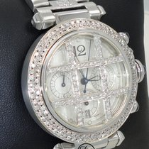 Cartier PASHA 2113 Chronograph Automatic Loaded With Diamonds...
