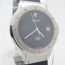 Hublot Mdm Quartz Steel Watch With Date Ladies Ref. 1521.1