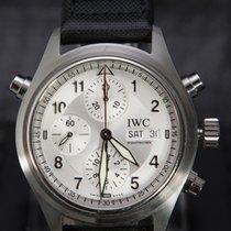 IWC Pilot Double Chronograph Staal 42mm Zilver Arabisch Nederland, 'S-Hertogenbosch