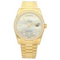 Rolex Day-Date 36 Or jaune 36mm Nacre Sans chiffres