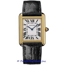 Cartier Tank Solo Yellow gold 27mm Silver Roman numerals