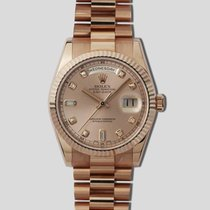 Rolex Rose gold Pink 36mm pre-owned Day-Date 36