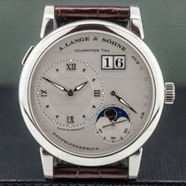 A. Lange & Söhne pre-owned Manual winding 38.5mm Silver Sapphire Glass 3 ATM