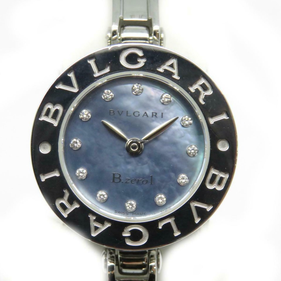 best loved 71d8e 6b9da Bulgari Auth B-zero1 Watch BZ22S Stainless Steel Blue 2957