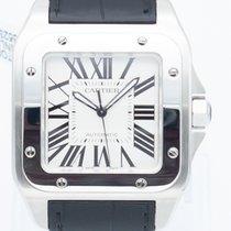 Cartier Steel Automatic White Roman numerals new Santos 100