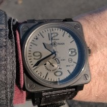 Bell & Ross BR 01-97 Réserve de Marche Steel 46mm Grey Arabic numerals United States of America, New Jersey, Paterson