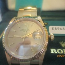 Rolex Oyster Perpetual Date new 1992 Manual winding Watch with original box and original papers R15238