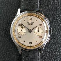 Orator Landeron 48 chronograph vintage 37.5mm 1950s