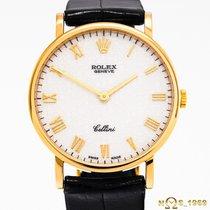 Rolex Cellini Yellow gold 32mm Champagne Roman numerals