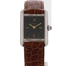 Cartier Tank Vermeil Silver 20mm Black United States of America, New York, New York