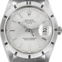 Rolex Oyster Perpetual Date Сталь 34mm Cеребро