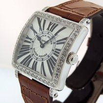 Franck Muller Master Square Steel 32.7mm Silver Roman numerals