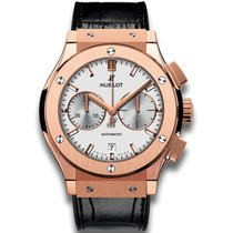 Hublot Rose gold Automatic Silver No numerals 45mm new Classic Fusion Chronograph