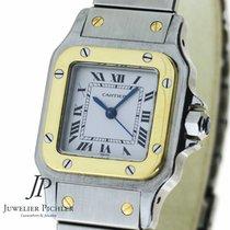 Cartier Santos Automatik, Gold Stahl, Lady Size