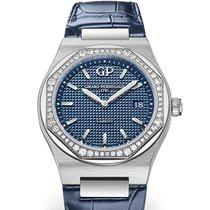 芝柏 80189D11A431-CB6A Girard Perregaux Acciaio Dial Blu 34mm 鋼 Laureato 34mm 新的