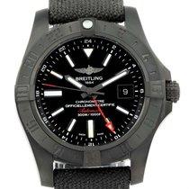 Breitling Aeromarine Avenger Ii Gmt Black Steel Watch M32390...