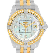Breitling Cockpit Ladies Steel 18k Yellow Gold Diamond Watch...