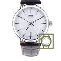 Oris Artelier Date Silver Dial Brown Leather Strap 733 7670 4051