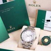 Rolex Datejust II Silver Diamond Dial Box & Card 2017