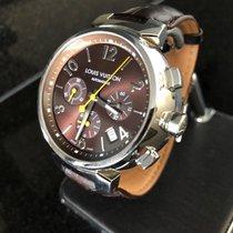 Louis Vuitton Tambour Chronographe Steel Leather Automatic